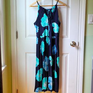 LOFT Dresses - Loft Navy Floral Midi Dress